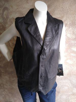 Black Genuine Leather Vest - XL for Sale in El Monte, CA