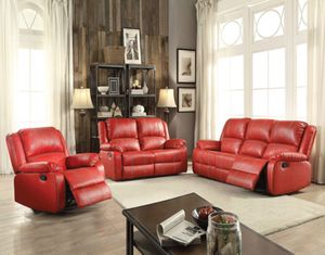 3pc Vibrant Red Recliners Set for Sale in Las Vegas, NV