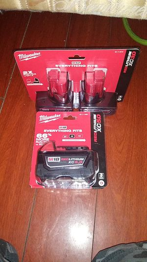 Milwaukee batteries for Sale in Huntington Beach, CA