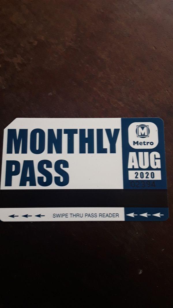 Metro pass