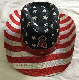 LA Angels of Anaheim baseball US USA flag patriotic cowboy hat - NEW for Sale in Irvine, CA