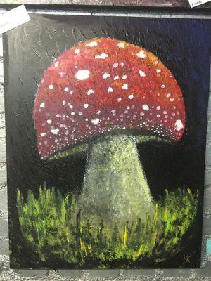 Magic mushroom acrylic painting for Sale in Tacoma, WA