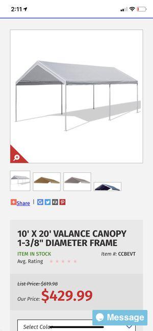 10x 20 heavy duty canopy tent for carport for Sale in Scottsdale, AZ