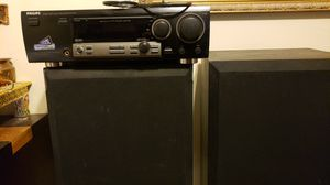 Philips FR-968 Digital Audio Vidoe Surround Receiver + 2 Speakers for Sale in Wheaton, MD