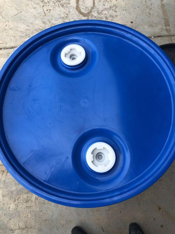 BLUE DRUM Industrial Plastic 55 GAl.