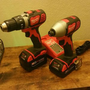 Milwaukee Drill Driver And Impact Driver (1/4 In. Hex) With Two Batteries for Sale in Lake Stevens, WA