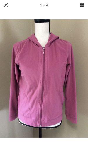 Women's Columbia Sportswear Pink Fleece Zip Front Hoodie Jacket Sz S Small EUC for Sale in Portland, OR