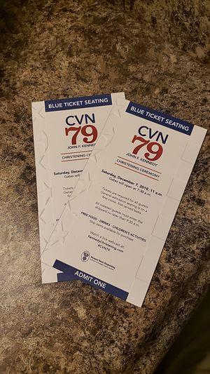CVN 79 CHRISTENING CEREMONY for Sale in Chesapeake, VA