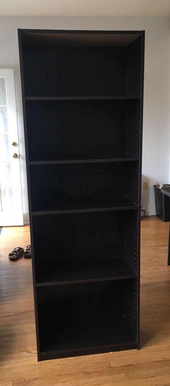Adjustable 5 shelf bookshelf