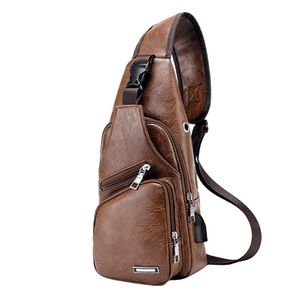 Mens Casual Zipper Travel Messenger Bag PU Leather for Sale in Chino Hills, CA