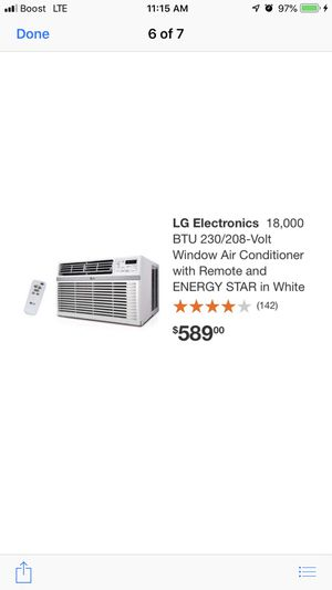 usted ac lg 18000 btu window for Sale in North Las Vegas, NV