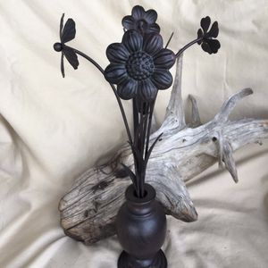 Metal Vase With Flowers for Sale in Sherman, TX
