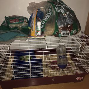 guinea pig cage and supplies for Sale in Portland, OR