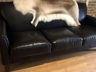 Like New Brown Vegan Leather Sofa - Pick Up By 3/05! for Sale in Brooklyn,  NY