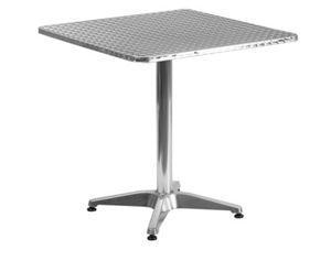 Flash Furniture 27.5'' Square Aluminum Indoor-Outdoor Table with Base for Sale in Palmyra, NJ