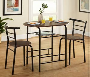 Bistro set / apartment kitchen set table with 2 chairs - NEW for Sale in Taylor, MI