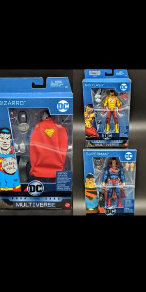 DC Universe Superman, Bizzaro and Kid Flash Combo for Sale in San Jose, CA