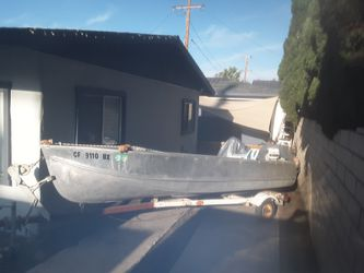 1957 lonestar aluminum boat for Sale in Costa Mesa,  CA