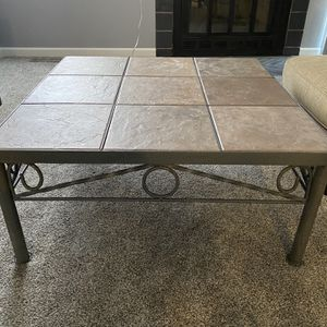 Decorative Steel Coffee Table And End Table for Sale in Thornton, CO
