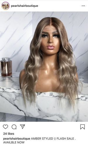 Lace front real human hair wig with custom color balayage ombre for Sale in Tampa, FL