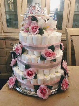 Princess Theme Diaper Cake for Sale in Pittsburgh, PA