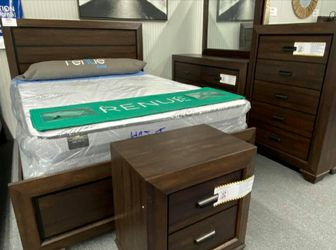 Farrow Chocolate Panel Bedroom Set (Twin, Full, Queen and King Bed Frame) for Sale in Round Rock,  TX
