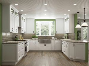 HUGE SALE! 100% WOOD WHITE SHAKER KITCHEN CABINETS! for Sale in Belle Isle, FL