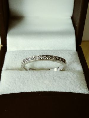 New Solid 925 Sterling Silver .15 carat Natural Diamond Engagement ring size 7 $125 OR BEST OFFER for Sale in Scottsdale, AZ
