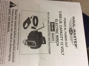 Haul master electric winch for Sale in Holmdel, NJ