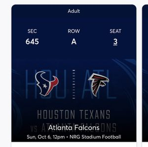 Houston Texans tickets (4) for Sale in Houston, TX
