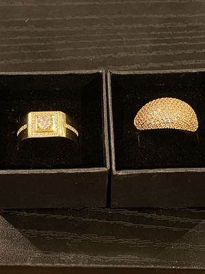 Unisex 18K Gold plated Matching Ring Set- Code SWS20 for Sale in Dallas, TX