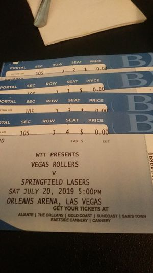 Tennis tickets at their best for Sale in Las Vegas, NV