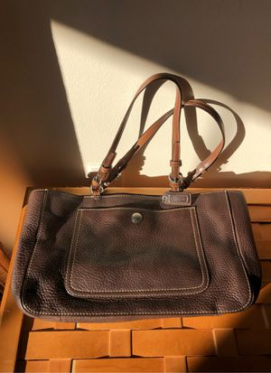 Coach brown leather bag for Sale in Martinsburg, WV