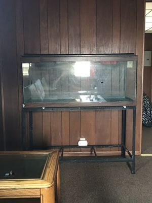 100 gallon fish tank with stand also lights for Sale in White Hall, WV