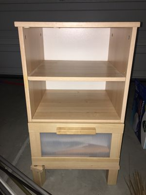 Free mini wooden ironing table & small weeded storage for Sale in Pittsburg, CA