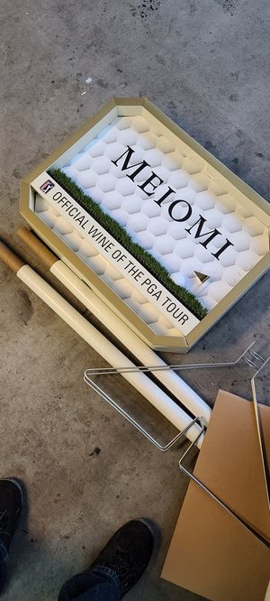New wine store display advertising Meiomi sign pga tour golf for Sale in Queen Creek, AZ