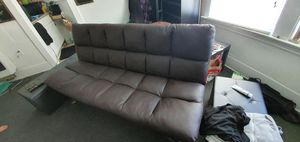 Leather cushion futon for sale 1 month old for Sale in Long Beach, CA