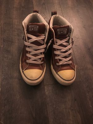 Leather High-top Converses - Women's size 9.5 for Sale in Denver, CO
