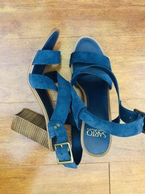 Women's Blue Franco Sarto 'sabine' Block Heel Sandal(pick up only) for Sale in Springfield, VA