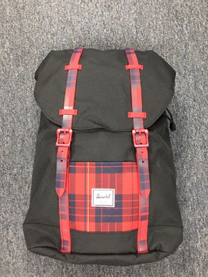 NEW wTags Youth Kids HERSCHEL Retreat Backpack BLACK w/red plaid for Sale in City of Industry, CA