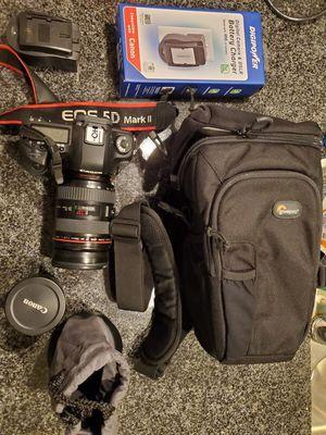 Canon 5d mark ii 24-70 f2.8 lens , case, fish eye lens for Sale in Austin, TX