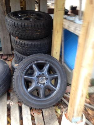 "Best Offer 16"" Rims 205/55/16 Mercedes W203 Rims on New Snow Tires - $700 South Shore) for Sale in Boston, MA"
