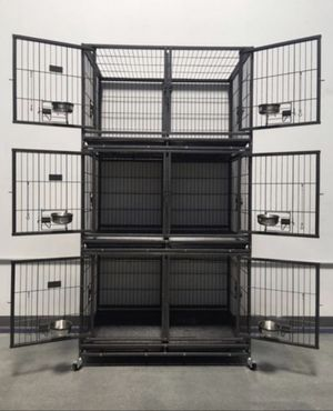 Brand new heavy duty dog pet kennel cage crate🇺🇸 see dimensions in second picture on each level. 🐶 for Sale in Las Vegas, NV