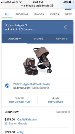 Britax B- Agile/B safe 35 travel system stroller- sandstone for Sale in San Diego, CA