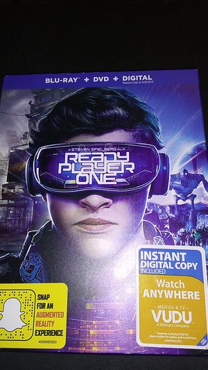 Ready player one Blu-Ray DVD and digital price is somewhat negotiable for Sale in Sprouses Corner, VA