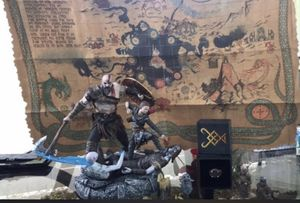 Kratos god of war statue with map and collectible ring for Sale in Clearwater, FL