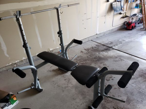 Weight set bench dumbell and bar bell