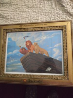 Disney framed picture lion king 12 by 15 for Sale in Addison, IL