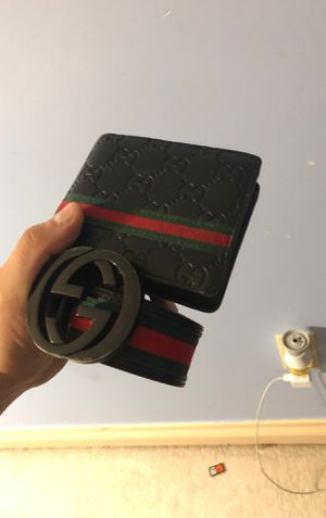 Gucci belt and wallet for Sale in Dearborn Heights, MI