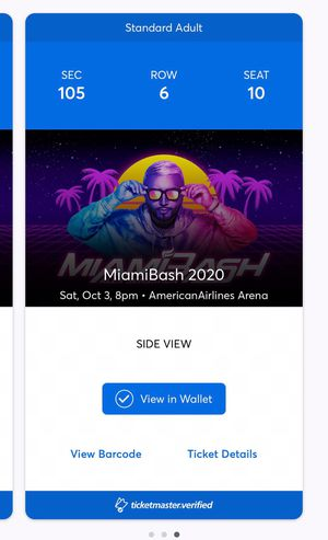 Miami bash tickets for Sale in Tampa, FL